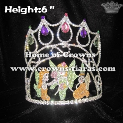 6in Height Crystal Fairy Pageant Diamond Crowns