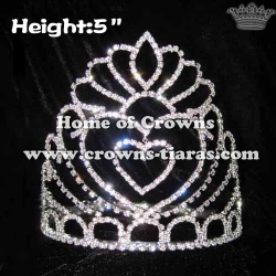 5inch Swing Heart Queen Pageant Crowns