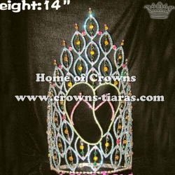 14in Rhinestone Summer Slipper Stock Pageant Crowns