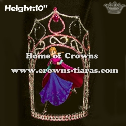 10inch Anna Frozen Crystal Queen  Crowns