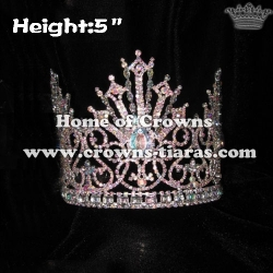 5in Height Wholesale Crystal Pageant Queen Crowns