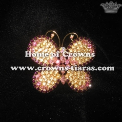 Stock Butterfly Pageant Sash Pins ---Gold Plated