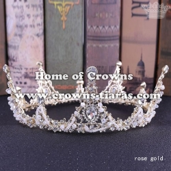 Alloy Crystal Full Round Pageant Queen Crowns