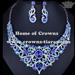 Wholesale All AB Diamond Necklace Set