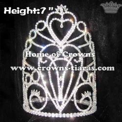 7inch Heart Crystal Pageant Crowns