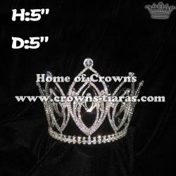 Wholesale Rhinestone Full Round Queen Crowns