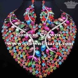 Wholesale Colored Diamond Nacklace Sets