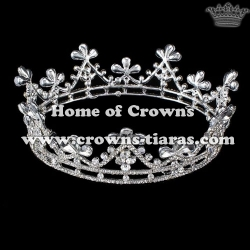 Wholesale Small Crystal Full Round Princess Crown