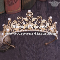 Wholesale Alloy Flower Shaped Wedding Tiaras
