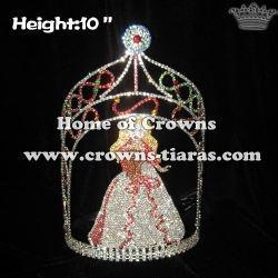 10in Height Crystal Pageant Queen Crowns