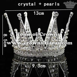 Wholesale Diamond Full Round Birthday Cake Crowns