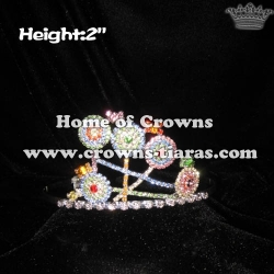 2in Height Lollipops Crystal Pageant Crowns