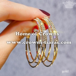 Fashion Rhinestone Earrings In Round Shaped