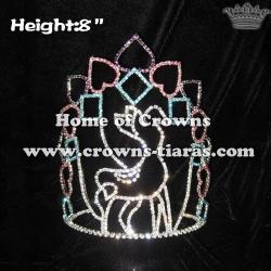 8inch Christmas Deer Christmas Crystal Rhinestone Crowns