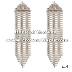 Wholesale Crystal Rhinestone Large Princess Earrings