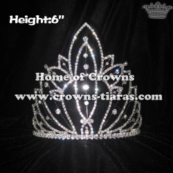 All Clear Crystal Rhinestone Pageant Princess Crowns