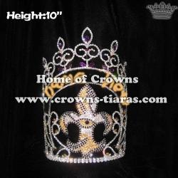 Wholesale 10in Height Custom Fleur De Lis Pageant Crowns