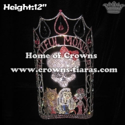 Wholesale Custom Crystal Monster Pageant Crowns