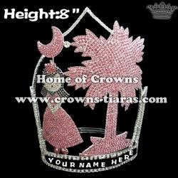 8inch Moon Girl Coconut Plam Custom Crowns