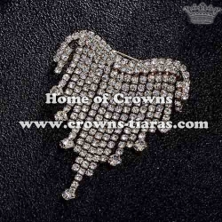 Wholesale Crystal Rhinestone Queen Brooch Pins
