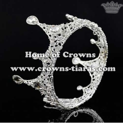 Full Round Shaped Crystal Wedding Crowns