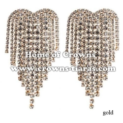 Large big Rhinestone Wedding Earrings
