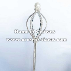 Rhinestone Pearl Pageant Scepters