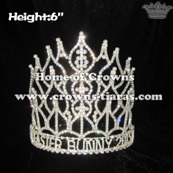 6in Height Wholesale Crystal Pageant Pearl Crowns