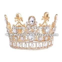 Wholesale Crystal Diamond Full Round Princess Crowns