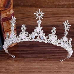 Crystal Birthday Queen Crowns With Stars