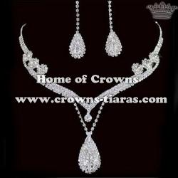 Wholesale Crystal Rhinestone Necklace Sets