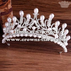 Wholesale Crystal Tiaras With Pearls