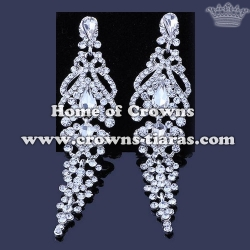 Wholesale Alloy Crystal Wedding Party Earrings