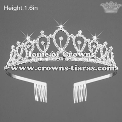 All Clear Crystal Rhinestone Princess Crowns