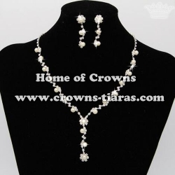 Fashion Unique Party Princess Pearl Necklace Set