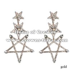 Crystal Diamond Fashion Star Earrings