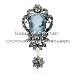 Fashion Crystal Diana Queen Brooch Pins