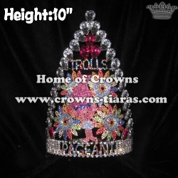 10in Height Custom Troll Pageant Crowns