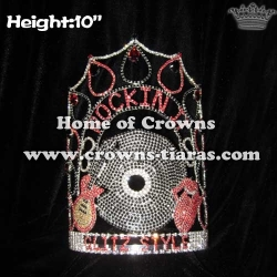 10in Height Wholesale Music Rockin It Pageant Crowns