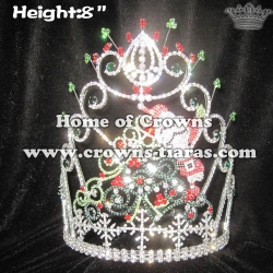 8in Height Christmas Pageant Crowns With Santa Claus