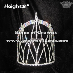 8inch Bridge Shaped Crystal Crowns
