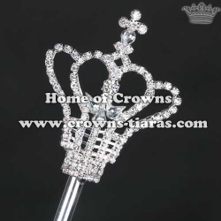 Cheap Crystal Rhinestone Pageant Scepter