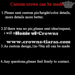 Crystal Rhinestone Custom Pageant Crowns