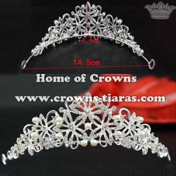 Crystal Party Crowns With Pearl And Diamond