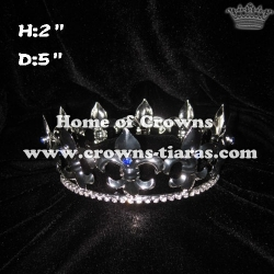 2in Height Fleur De Lis Shaped Pageant King Crowns