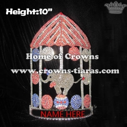 Wholesale Crystal Circus Troupe Elephant Crowns