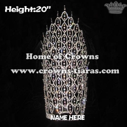 20inch Big Tall Crystal Pageant Crowns