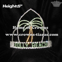 Crystal Plam Tree Pageant Summer Crowns