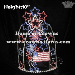 Wholesale Custom Firework Pageant Crowns With Stars