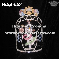 10in Crystal Custom Pageant Summer Crowns With SunShine